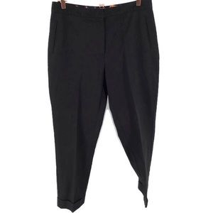 Tommy Hilifiger Black Cuffed Bottom Straight Pants